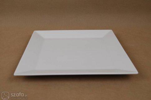 Talerze kwadratowe białe