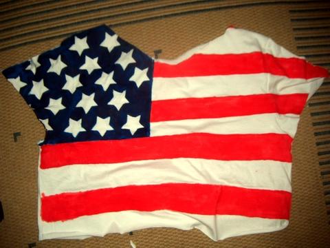 bluzka z flagą