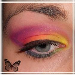 Tęczowy makijaż - Sleek Acid