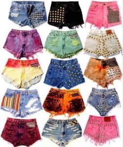 ćwiekowane szorty/studded shorts DIY instrukcja + inspiracje