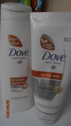 Dove, Repair Therapy, Silk and Sleek maska i szampon