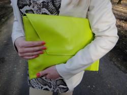 Outfit Limonkowa kopertówka