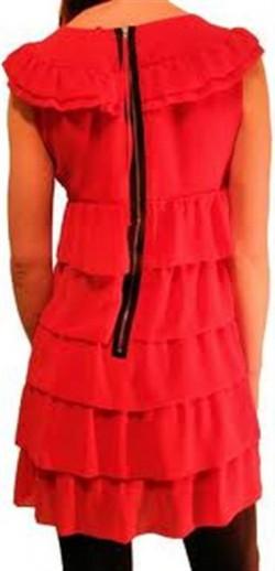 koralowa sukienka falbanki top shop KUPIĆ?