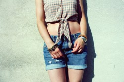 Summer blue jeans