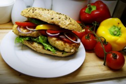 Burger zdrowy kolorowy