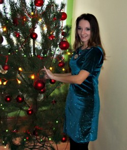 Swiąteczna Sukienka w pierwszy dzień :)