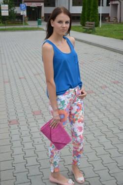 Spodnie floral