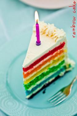 Tort rainbow :) ♥!