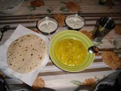 chapati + ser+deii