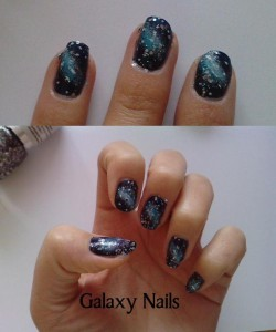 Galaxy manicure tutorial