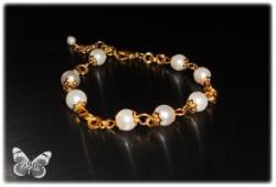 Perły w złocie - bransoleta
