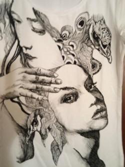 kolejna ręcznie malowana koszulka