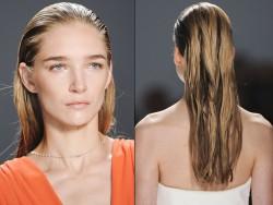 Wet look hair - trendy!