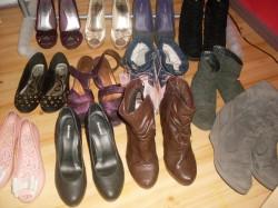 moja kolekcja butów wyłowiona na Szafie