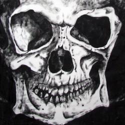 Ręcznie malowana bluzeczka z motywem czaszki :)