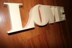 Napis LOVE  3D prezent dla mamy :D