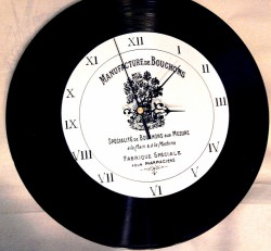 Zegar z grafiką schabby chic