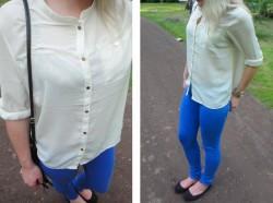OUTFIT - Chabrowe spodnie