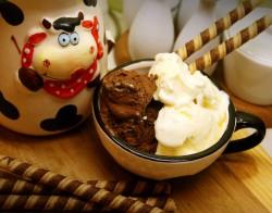 Lody waniliowo czekoladowe