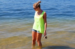 NEONOWY TOP H&M - OUTFIT