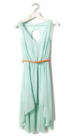 Wiosna i miętowa sukienka