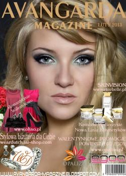 DZIEWCZYNA MIESIĄCA - Okładka Avangarda Magazine LUTY 2013