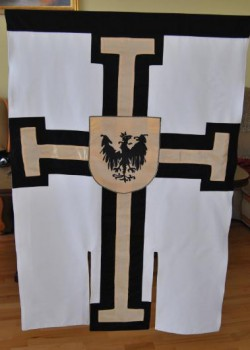 Hand made Flaga Krzyżaków.