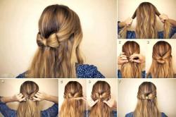 Włosy na kokardę-instrukcja