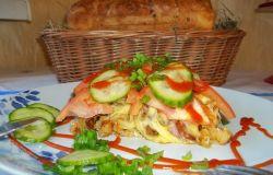 Zapiekanka na chlebowych grzankach