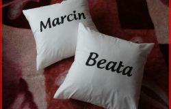 Ręcznie malowane poduszki z imieniem