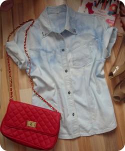 Koszula jeansowa ombre, acid wash ;)
