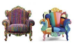 Fotel w multi kolorze