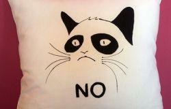 Poduszka ze słynnym kotem z FB