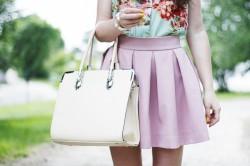 Różowa stylizacja.