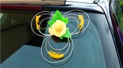 Dekoracja samochodu - goździki