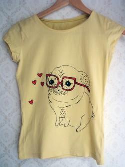 moje własnoręcznie zmalowane koszulki
