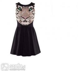 sukienka z czarną panterą
