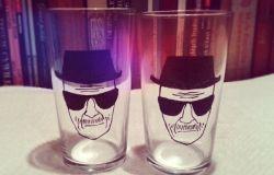 Heisenberg malowany na szklance