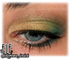 Zielono-złoty makijaż