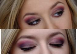 makijaż - magiczne połączenie czerwieni i fioletu