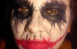 Trzeci- Jocker Halloween Makeup