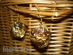 Kolczyki Ferrero Rocher z modeliny