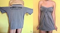Jak wykonać sukienkę z zwykłego t-shirta w 8 sekund?