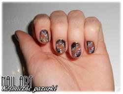 Nail art - kosmiczne pazurki