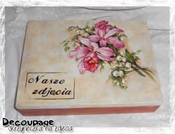 Decoupage - szkatułka na zdjęcia