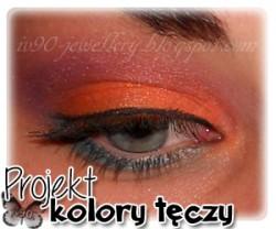 """Makijaż - fiolet, niebieski, pomarańcz - projekt """"kolory tęczy"""" tydzień 4"""