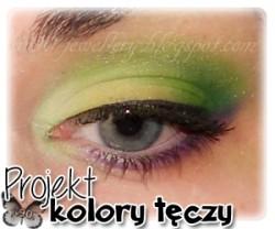 """Makijaż: Zielony, fioletowy, żółty - projekt """"kolory tęczy"""" - tydzień 2"""