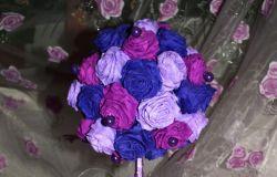 Drzewko z krepy w odcieniach fioletu