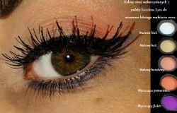 Jesienny makijaż oka: brąz z soczystą pomarańczą i zielenią ,khaki'