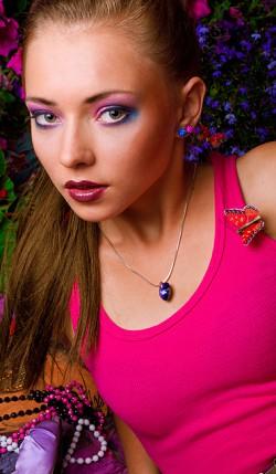 propozycja makijażu blue-pink